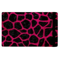 Skin1 Black Marble & Pink Leather Apple Ipad 2 Flip Case by trendistuff