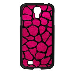 Skin1 Black Marble & Pink Leather (r) Samsung Galaxy S4 I9500/ I9505 Case (black) by trendistuff