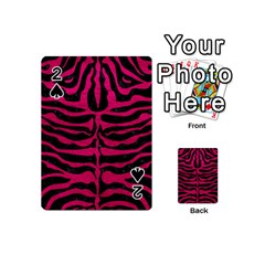 Skin2 Black Marble & Pink Leather (r) Playing Cards 54 (mini)  by trendistuff