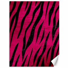Skin3 Black Marble & Pink Leather Canvas 36  X 48   by trendistuff