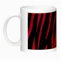 Skin3 Black Marble & Pink Leather (r) Night Luminous Mugs by trendistuff