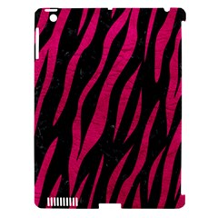 Skin3 Black Marble & Pink Leather (r) Apple Ipad 3/4 Hardshell Case (compatible With Smart Cover) by trendistuff