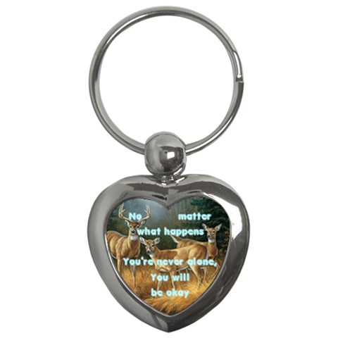 No Matter Will Be Okay Keychain By Shelleyww42 Gmail Com   Key Chain (heart)   59ha843h20el   Www Artscow Com Front