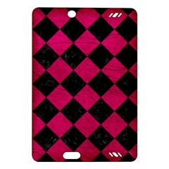 Square2 Black Marble & Pink Leather Amazon Kindle Fire Hd (2013) Hardshell Case by trendistuff