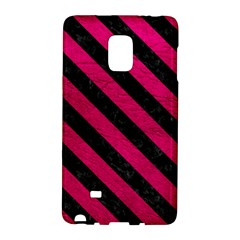 Stripes3 Black Marble & Pink Leather Galaxy Note Edge by trendistuff