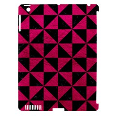 Triangle1 Black Marble & Pink Leather Apple Ipad 3/4 Hardshell Case (compatible With Smart Cover) by trendistuff