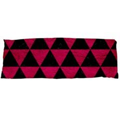 Triangle3 Black Marble & Pink Leather Body Pillow Case (dakimakura) by trendistuff