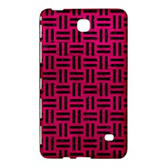 Woven1 Black Marble & Pink Leather Samsung Galaxy Tab 4 (8 ) Hardshell Case