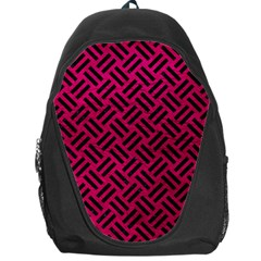 Woven2 Black Marble & Pink Leather Backpack Bag by trendistuff