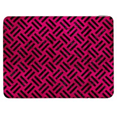 Woven2 Black Marble & Pink Leather Samsung Galaxy Tab 7  P1000 Flip Case by trendistuff