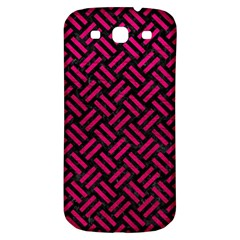 Woven2 Black Marble & Pink Leather (r) Samsung Galaxy S3 S Iii Classic Hardshell Back Case by trendistuff