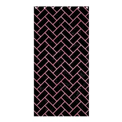 Brick2 Black Marble & Pink Watercolor (r) Shower Curtain 36  X 72  (stall)  by trendistuff