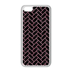 Brick2 Black Marble & Pink Watercolor (r) Apple Iphone 5c Seamless Case (white) by trendistuff