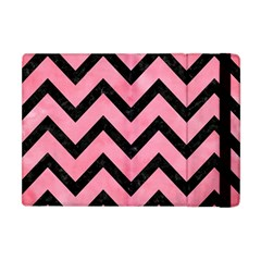 Chevron9 Black Marble & Pink Watercolor Apple Ipad Mini Flip Case by trendistuff