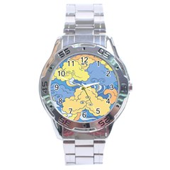 Abstract Nature 2 Stainless Steel Analogue Watch by tarastyle
