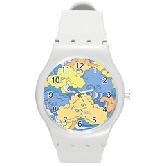 Abstract Nature 2 Round Plastic Sport Watch (m) by tarastyle