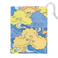 Abstract Nature 2 Drawstring Pouches (xxl) by tarastyle