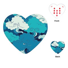 Abstract Nature 4 Playing Cards (heart)  by tarastyle