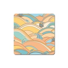 Abstract Nature 5 Square Magnet by tarastyle