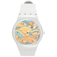 Abstract Nature 5 Round Plastic Sport Watch (m) by tarastyle