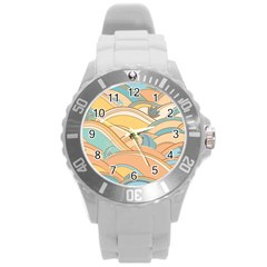 Abstract Nature 5 Round Plastic Sport Watch (l) by tarastyle