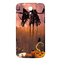 Halloween Design With Scarecrow, Crow And Pumpkin Samsung Galaxy Mega I9200 Hardshell Back Case by FantasyWorld7