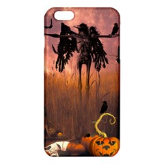 Halloween Design With Scarecrow, Crow And Pumpkin Iphone 6 Plus/6s Plus Tpu Case by FantasyWorld7