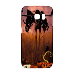 Halloween Design With Scarecrow, Crow And Pumpkin Galaxy S6 Edge by FantasyWorld7