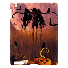Halloween Design With Scarecrow, Crow And Pumpkin Apple Ipad 3/4 Hardshell Case by FantasyWorld7