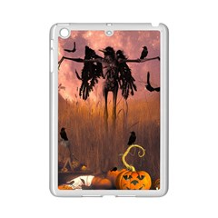 Halloween Design With Scarecrow, Crow And Pumpkin Ipad Mini 2 Enamel Coated Cases by FantasyWorld7