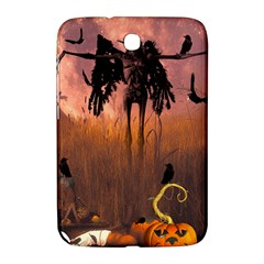 Halloween Design With Scarecrow, Crow And Pumpkin Samsung Galaxy Note 8 0 N5100 Hardshell Case  by FantasyWorld7