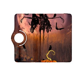 Halloween Design With Scarecrow, Crow And Pumpkin Kindle Fire Hdx 8 9  Flip 360 Case by FantasyWorld7