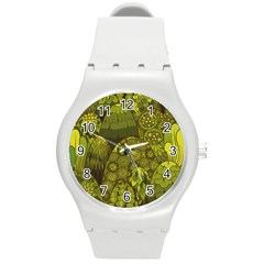 Abstract Nature 11 Round Plastic Sport Watch (m) by tarastyle