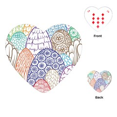 Abstract Nature 12 Playing Cards (heart)  by tarastyle