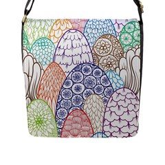 Abstract Nature 12 Flap Messenger Bag (l)  by tarastyle