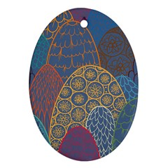 Abstract Nature 13 Oval Ornament (two Sides) by tarastyle