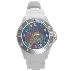 Abstract Nature 13 Round Plastic Sport Watch (l) by tarastyle