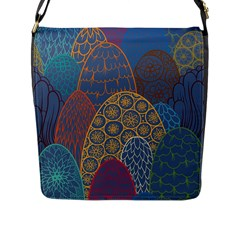 Abstract Nature 13 Flap Messenger Bag (l)  by tarastyle