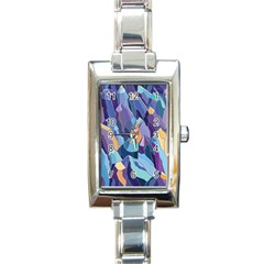 Abstract Nature 15 Rectangle Italian Charm Watch by tarastyle