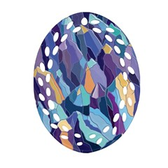 Abstract Nature 15 Oval Filigree Ornament (two Sides) by tarastyle