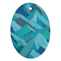 Abstract Nature 17 Oval Ornament (two Sides) by tarastyle