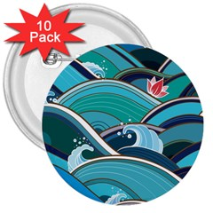 Abstract Nature 19 3  Buttons (10 Pack)  by tarastyle