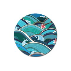 Abstract Nature 19 Magnet 3  (round) by tarastyle