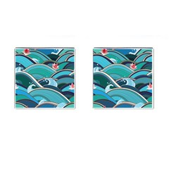 Abstract Nature 19 Cufflinks (square) by tarastyle