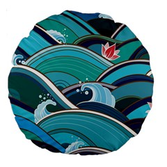 Abstract Nature 19 Large 18  Premium Round Cushions by tarastyle