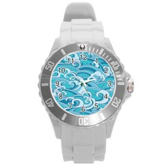 Abstract Nature 20 Round Plastic Sport Watch (l) by tarastyle