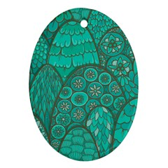 Abstract Nature 21 Ornament (oval) by tarastyle