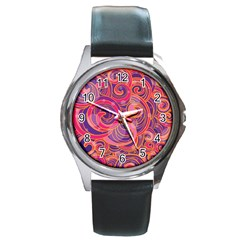 Abstract Nature 22 Round Metal Watch by tarastyle