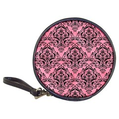 Damask1 Black Marble & Pink Watercolor Classic 20 Cd Wallets by trendistuff