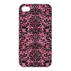 Damask2 Black Marble & Pink Watercolor Apple Iphone 4/4s Premium Hardshell Case by trendistuff